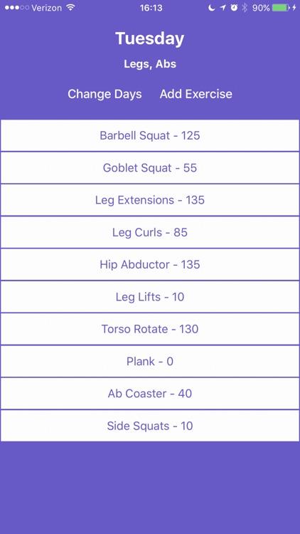 Gains | Offline Weight Lifting Tracker screenshot-4