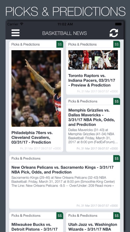 Live Basketball News & Predictions
