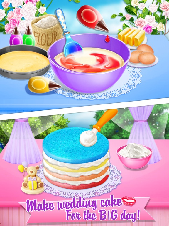 Wedding Rainbow Cake Kids Sweet Desserts Maker App Price Drops