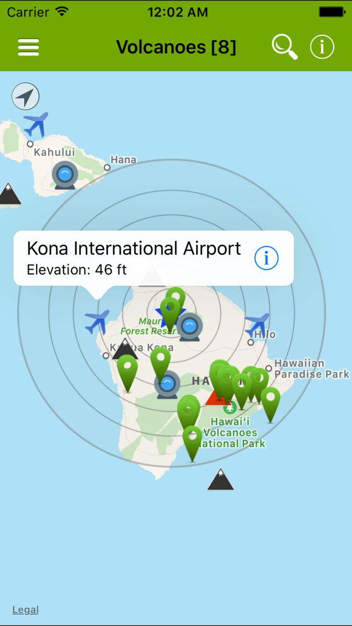 Volcanoes: Map, Alerts & Ash Screenshot