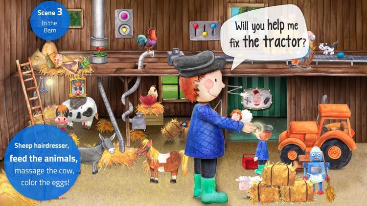 Tiny Farm: Animal & Tractor App for Kids screenshot-3
