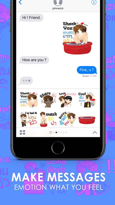 Good Man Stickers & Emoji Keyboard By ChatStick screenshot two