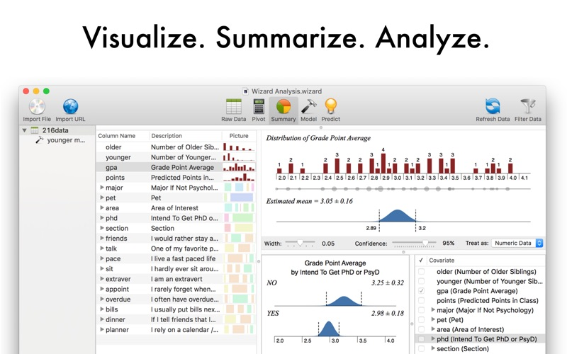Screenshot #1 for Wizard - Statistics & Analysis
