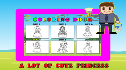 Princess Kids Coloring Book For Girl - 48 Pages screenshot two