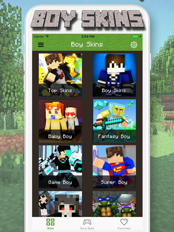 Boy Skins for Minecraft PE - MCPE Skins Free iOS Application