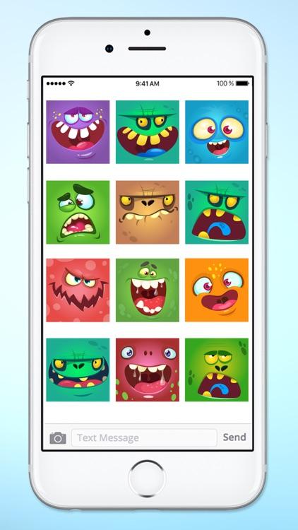 Monster Face Emoji Sticker Pack 1 screenshot-3