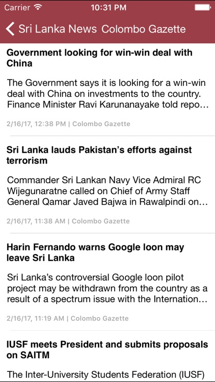 Breaking News - Sri Lanka