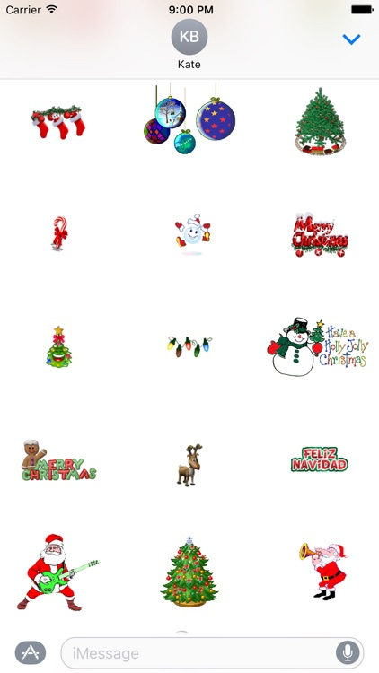 Animated Christmas Stickers for iMessage screenshot-4