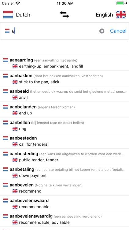Dutch/English Dictionary screenshot-0