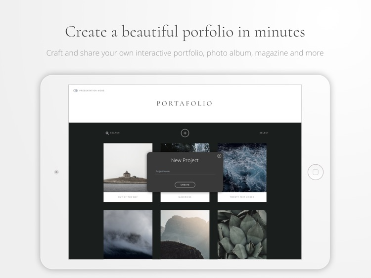 Portafolio - Design a Portfolio & Photo Albums