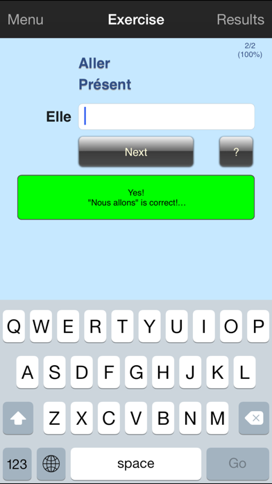 Verbuga French Verb Trainer screenshot two