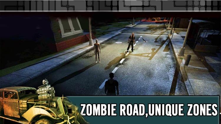 Zombie Smash:Free highway racing & shooting games