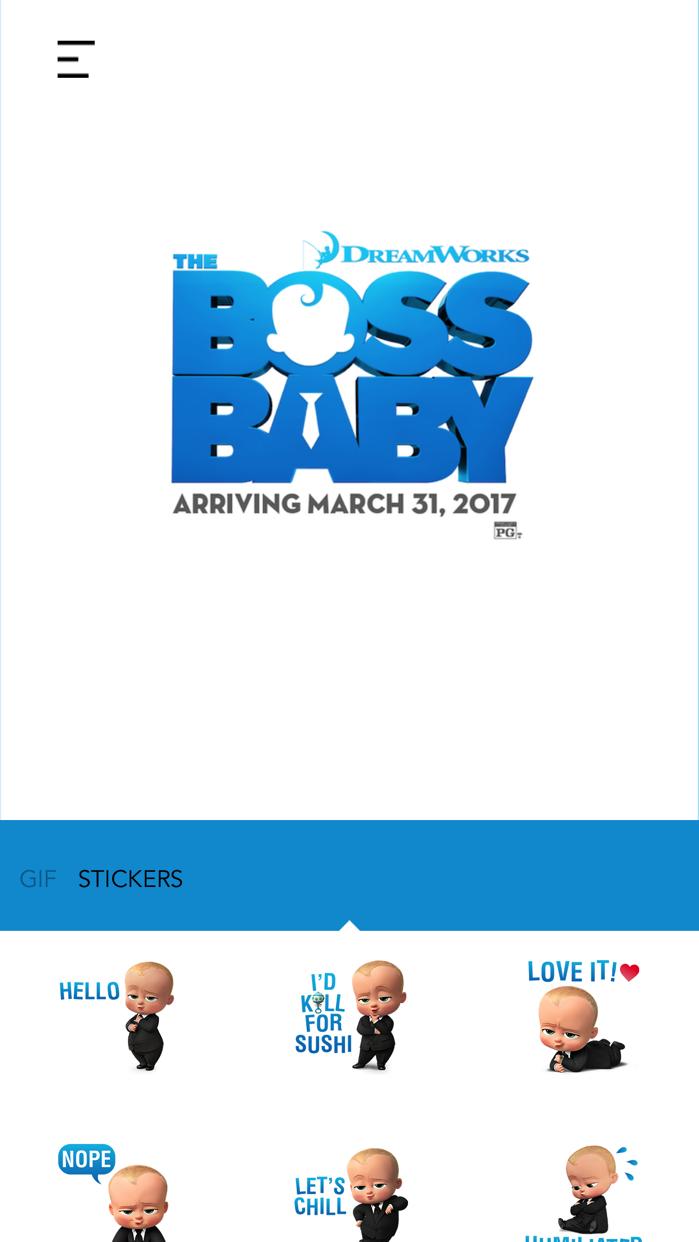 The Boss Baby Stickers Screenshot