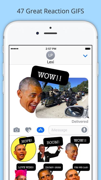 Obama GIF Stickers - Funny Emojis for iMessage