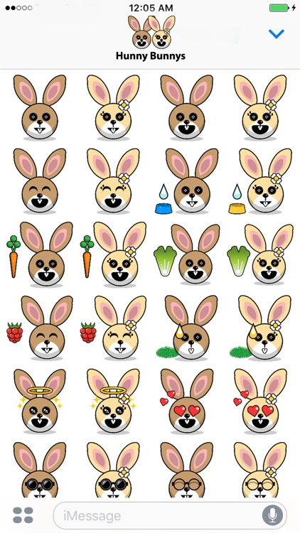 Hunny Bunnys Stickers - Rabbit Emoji Meme