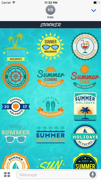 Summer - Sticker Pack for iMessage