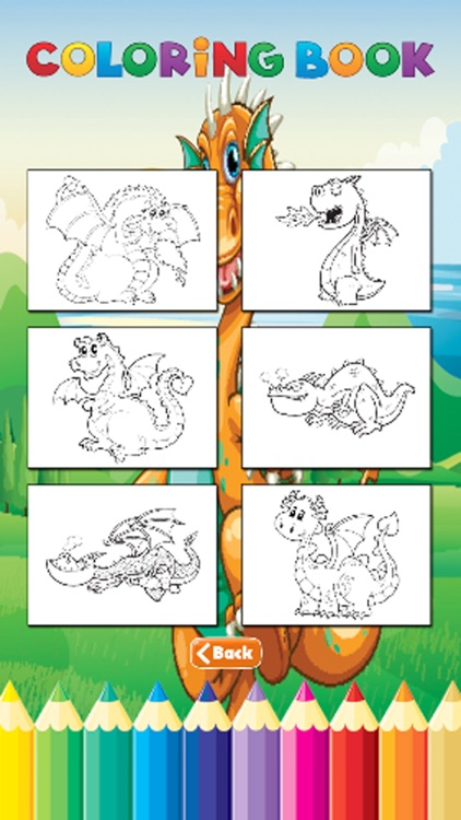 Dragon Art Coloring Book - Activities for Kid screenshot-4