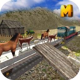 Animal Transport Train Simulator 3D