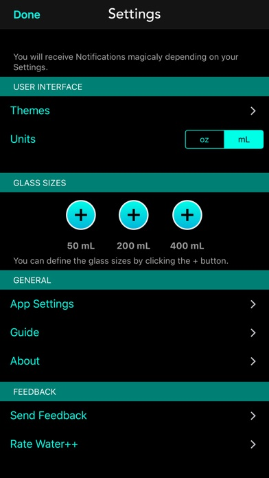 Water++ Water Balance Tracker Screenshots