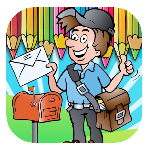 Kids Postman Game Coloring Page Version by Takol Wang