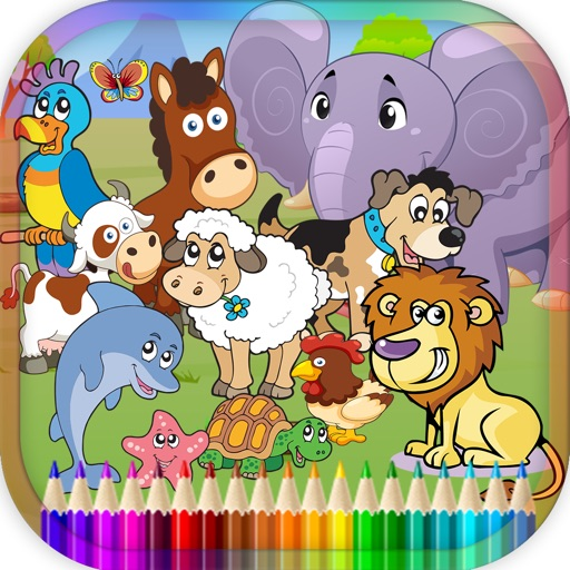 Animal Coloring Book For Children Game