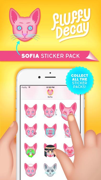 Fluffy Decay Sofia Sticker Pack