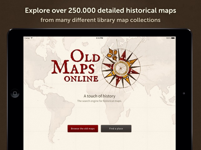 Old Maps Online On The App Store - Buy old maps online