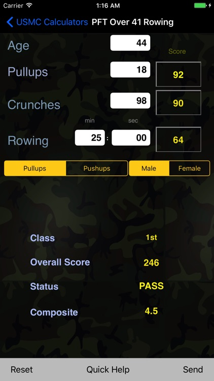 USMC Physical Fitness Tests - New Requirements screenshot-4