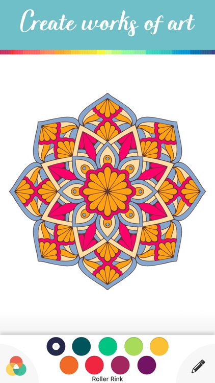 Mandala Coloring Books Adults Color Calm Therapy Screenshot 2