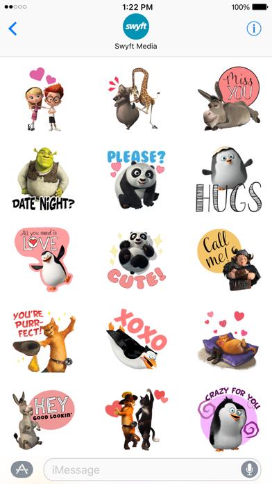 DreamWorks Animation Love Stickers screenshot 3