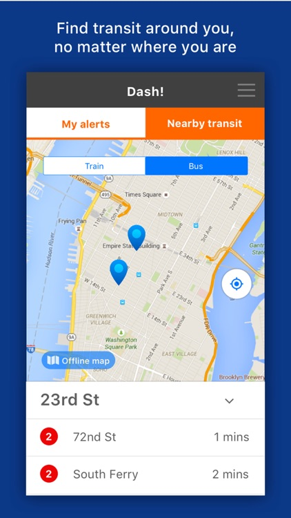 Dash! Transit: Daily Bus & Subway Transit Alerts screenshot-4