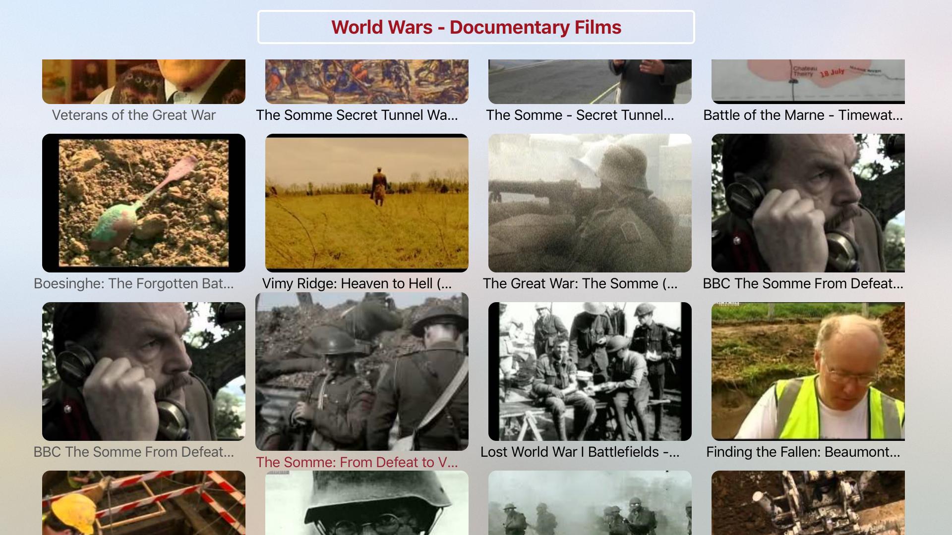World Wars Documentary Films screenshot 1