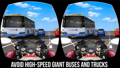 VR疯狂摩托车交通比赛 - 最好的免费赛车游戏2017年虚拟现实 App 截图