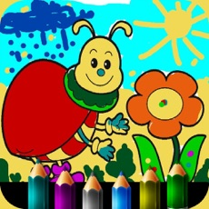 Activities of Coloring book for little girls. HD