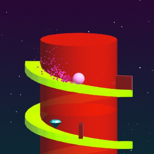 Super Spiral Tower - Rolling Swirly castle iOS App