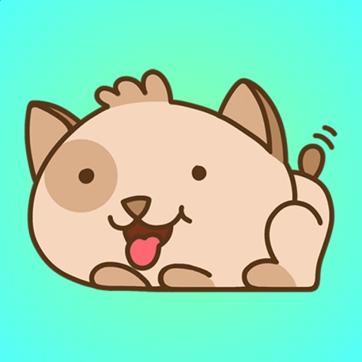 Happy and Cute Puppy Stickers