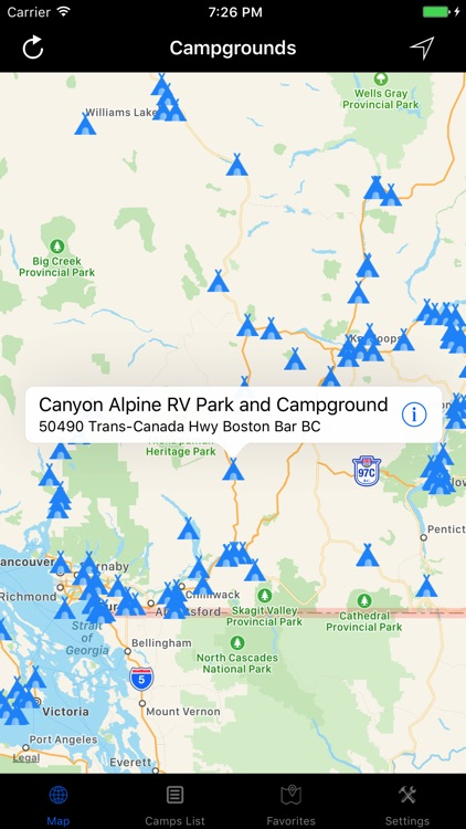 British Columbia – Campgrounds & RV Parks