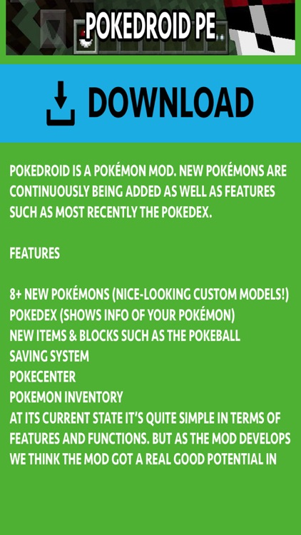 PIXELMON ADDONS FOR MINECRAFT POCKET EDITION (PE) screenshot-3