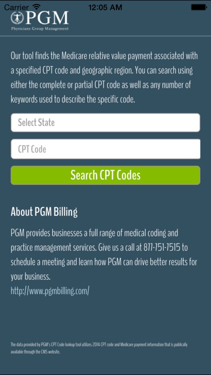 CPT Code Fee Search Tool