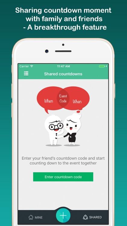 Countdown sticker - Fancy countdown widget & timer