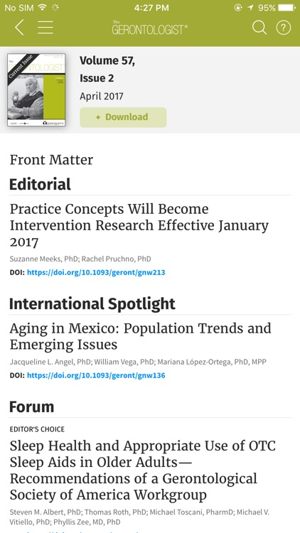 GSA (Journals) screenshot-2