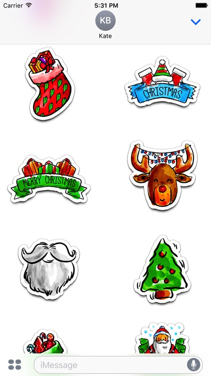 Watercolor Christmas Stickers Vol. 5