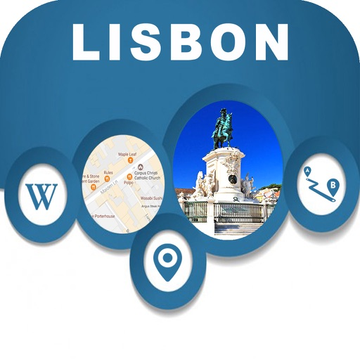 Lisbon Portugal City Offline Map Navigation EGATE