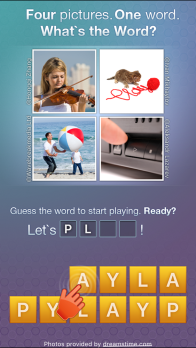 Screenshots of What's the Word? - new quiz with pics and word for iPhone