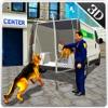 警察犬輸送トラックとミニバンドライブ