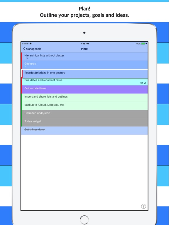 manageable nested todo lists app price drops