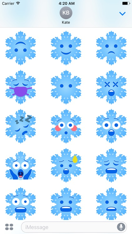 Christmas Snowflakes Stickers screenshot-4