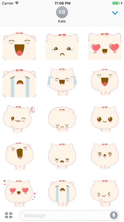 Fletcher The Lovely Cat Stickers