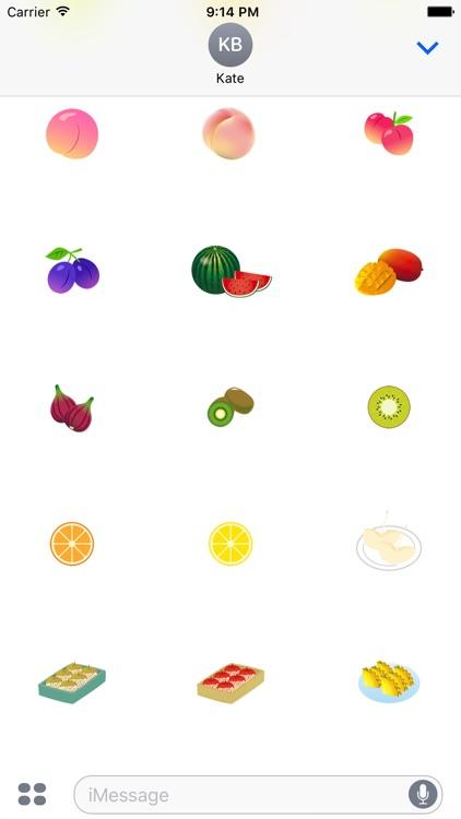 Cute fruit sticker screenshot-3