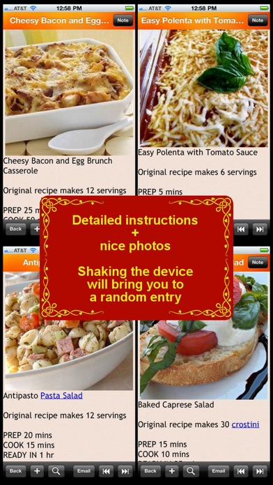 Screenshot for 300 Italian Cuisine Recipe in Azerbaijan App Store